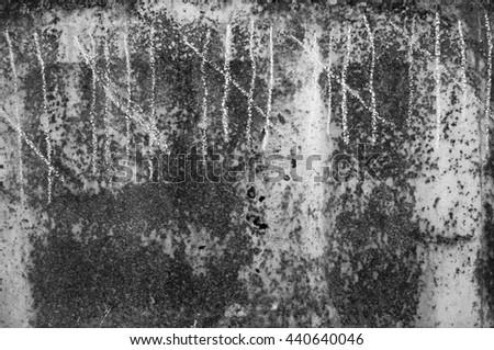 tally sheet on metal surface - stock photo