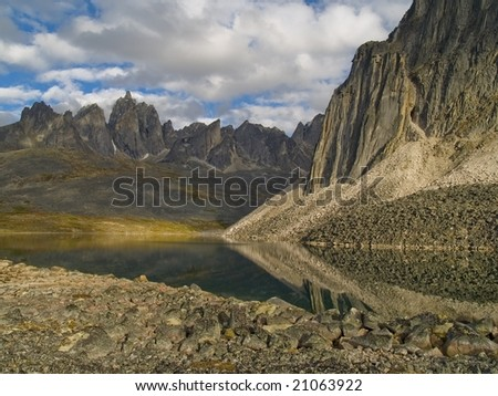 Talus Lake in Central Yukon Territory