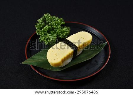 Tamago Nigiri Sushi Tamago Sushi Japanese Food