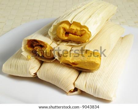 Tamales - stock photo