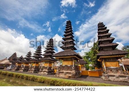 Taman Ayun Temple (Bali, Indonesia) on a beautiful sunny day - stock photo