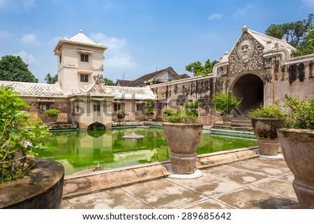 Taman Sari water palace of Yogyakarta on Java island, Indonesia. - stock photo