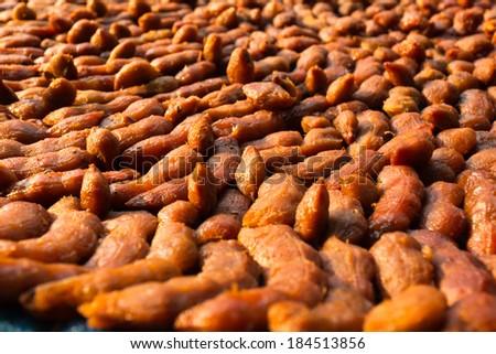 tamarind fruit background - stock photo