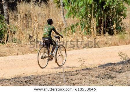 Kid Helmet Riding Bicycle On Summer Stock Photo 614715812