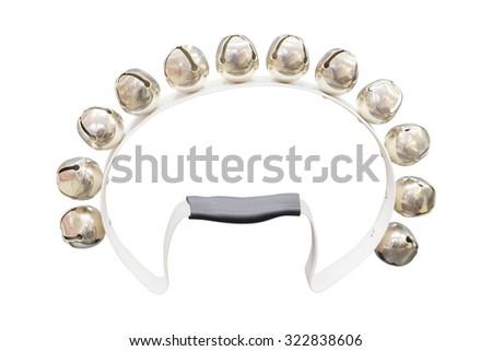 tambourine isolated on the white background - stock photo