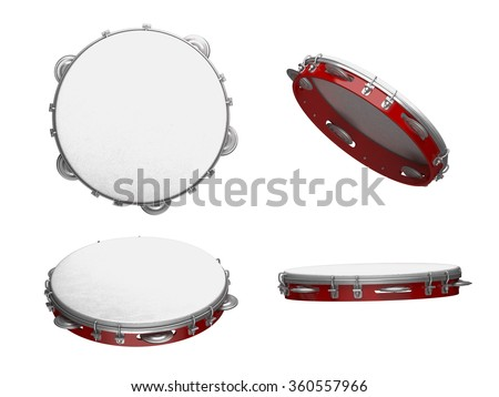 Tambourine with nobody holding - stock photo