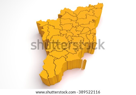 Tamil Nadu Map Stock Images RoyaltyFree Images Vectors - Tamilnadu map