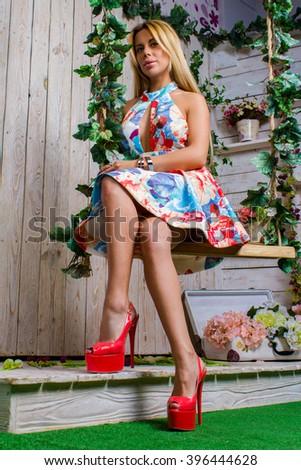 sexy Mädchen in High Heels Bilder