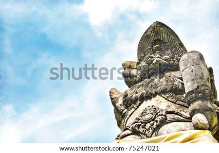 Tanah Lot Temple Guardian - stock photo