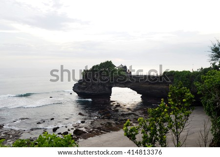 tanah lot temple in Bali Indonisia