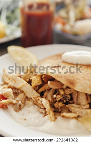 Tandoori Chicken Served On Plate - stock photo