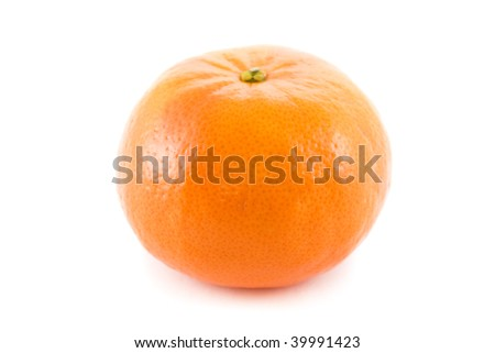 Tangerine isolated on pure white background - stock photo