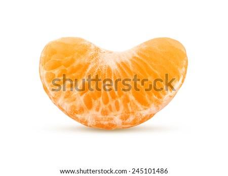 Tangerine or Mandarin Fruit, isolated on white background - stock photo