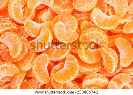 tangerine texture - stock photo