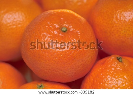 tangerines close-up
