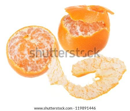Tangerines isolated on white background - stock photo