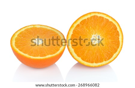 Tangerines isolated on white background. - stock photo