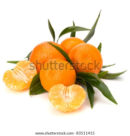 Tangerines isolated on white background