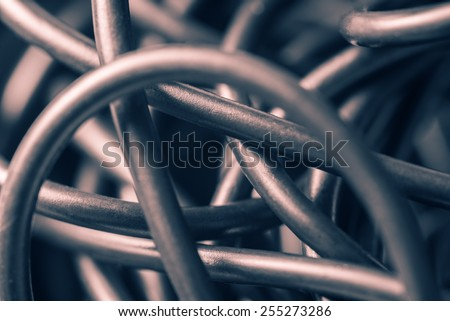 Tangled wires, abstract background - stock photo