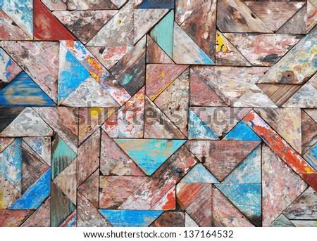 tangram background - stock photo