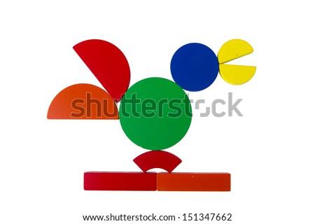Tangram isolated on white background - stock photo