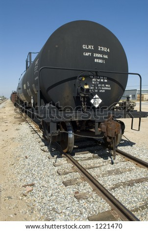Tank car, vertical format