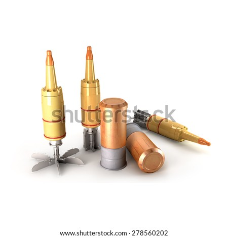 Tank Cumulative Munition on a white background