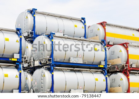 tank transport container - stock photo