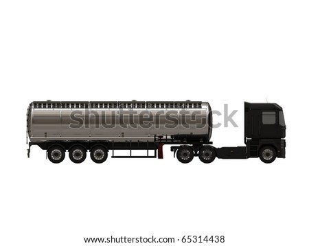 tanker isolated on white background - stock photo