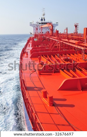 Tanker ship - stock photo