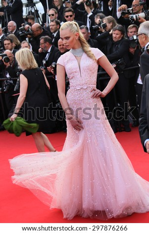 Tanya Dziahileva attends the opening ceremony and 'La Tete Haute' premiere during the 68th annual Cannes Film Festival on May 13, 2015 in Cannes, France. - stock photo