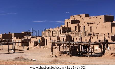Taos Pueblo, New Mexico - stock photo