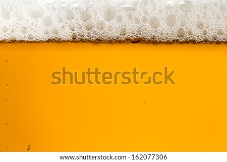 Tap Czech beer with beutiful white foam in the glass - stock photo