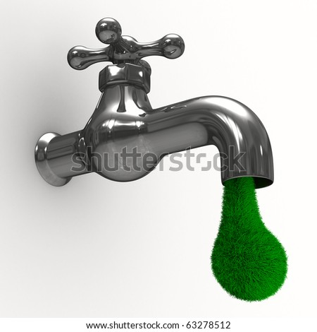 tap on white background. Isolated 3D image - stock photo