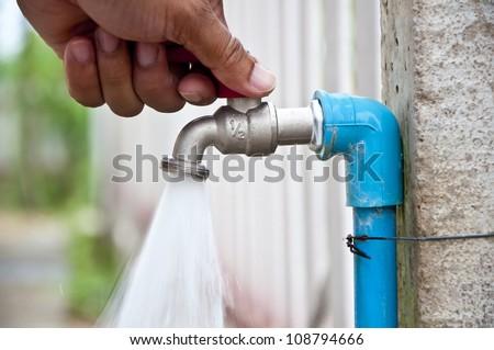 Tap water - stock photo