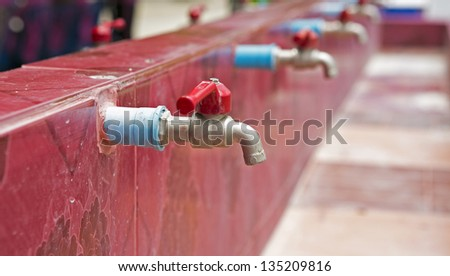 Tap water. - stock photo