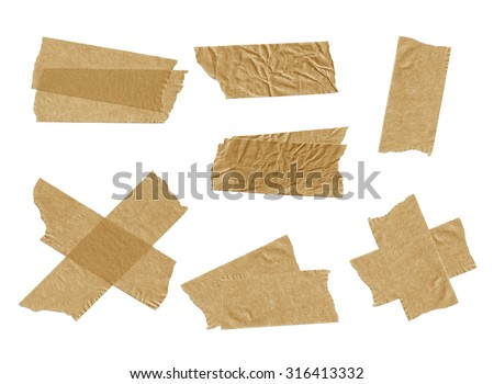 Tape isolated on white.  - stock photo