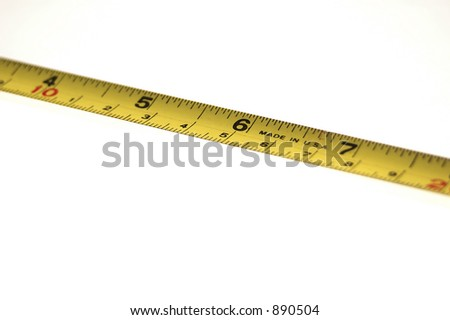 Tape Measure Background shallow DOF at 6""