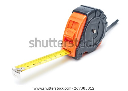 Tape measure closeup - stock photo