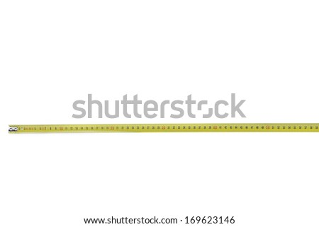 Tape Measure horizontal. Isolated on a white background. - stock photo