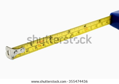 Tape measure isolated in white background