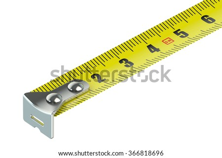 tape measure isolated on white background