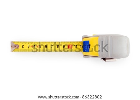 Tape measure isolated on white  background with clipping path - stock photo