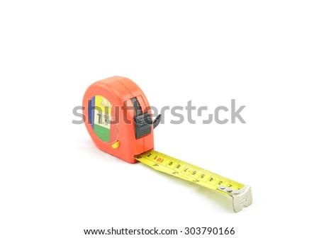 tape measure isolated white background - stock photo