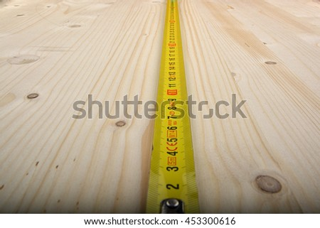 Tape measure wood