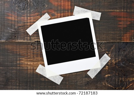 taped vintage wood board - stock photo