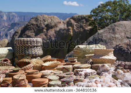 Tarahumara made souvenirs sold in the Copper Canyons, Chihuahua, Mexico