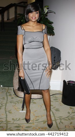 Taraji P. Henson at the Essence Black Women in Hollywood Luncheon held at the Beverly Hills Hotel in Beverly Hills, USA on February 19, 2009. - stock photo