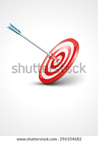 target and arrow - stock photo
