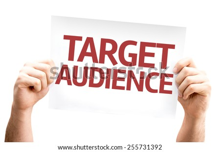 Target Audience card isolated on white background - stock photo